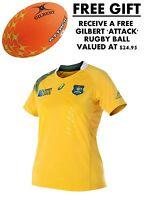 Official Asics Wallabies Womens Replica Home Test Jersey RWC 2015 + FREE GIFT