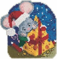 MILL HILL Mouse Trilogy ORNAMENTS Beaded Cross Stitch Kit MAC CHEESE