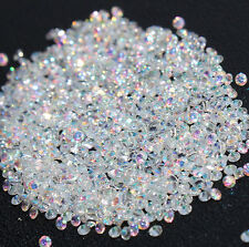 1000Pcs Mini Rhinestones Clear 1.2mm Crystal Pixie Micro Zircon 3D Nail Art MJ63