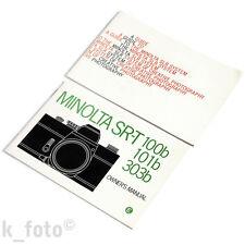 Minolta SR-T 100b, 101b, 303b Manual + SLR Guide