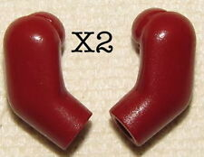 LEGO 2 Pair DARK RED Arms Minifig parts Both left and right arms NEW