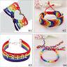 Lesbian Pride Flag Gay Braid Rainbow Bracelet Charm Love Valentine's Gifts EB