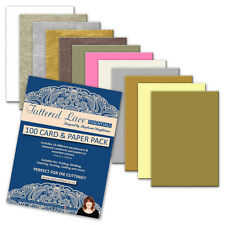 Tattered Lace 100 CARD & PAPER PACK 250mm x 335mm (LARGE A4+) Pearl & Textured