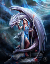 ANNE STOKES DRAGON MAGE - 3D PICTURE 300mm X 400mm (NEW)