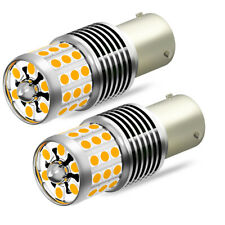 2X OXILAM LED Turn Signal Light Rear Front BAU15S 7507 Amber Canbus Super Bright