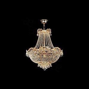 Swarovski Crystal Wave 10-light Chandelier Gold Chandelier Light In Gold