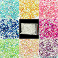 Wholesale Mini Round Fake Pearl Loose Spacer Bead 2.5-5mm No Hole Beads Findings