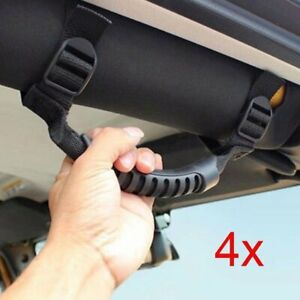 4Pcs Grab Handles Grip Handle Accessories For Jeep Wrangler YJ TJ JK 1987-2018