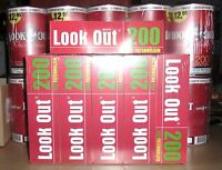 10 x Zigarettentabak  Volumentabak Tabak LOOK OUT Red XL  100 g & 1200  Hülsen