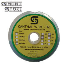 100 ft - 22 Gauge SWG A1 Kanthal Round Wire 0.711 mm
