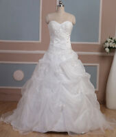 B1288 Luxus Brautkleid Hochzeitskleid Kleid für Braut 34-48 oder Maßanfertigung