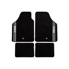 Set tappeti auto universali moquette SPARCO CORSA foro bloccaggio nero grigio