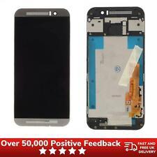 HTC One M9 Pantalla LCD Pantalla Táctil Digitalizador Conjunto de Marco Bisel plata