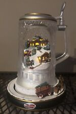 Budweiser Clydesdale Holiday Cheer Crystal Stein Light Motion Sound