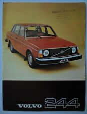VOLVO 244 1977 UK Mkt Sales Leaflet Brochure - DL GL