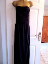 "NEW.W.O.T FABULOUS NAVY STRAPLESS MAXI BY WAREHOUSE  UK-10  BUST 34"" LENGTH 57"""