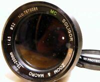 Soligor 75-200mm f4.5 AF Lens Minolta Maxxum Cámara Auto Focus (parts or repair)