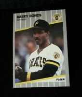 1989 Fleer Barry Bonds, Pittsburgh Pirates #202