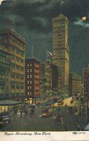 NEW YORK CITY – Upper Broadway at Night - 1910
