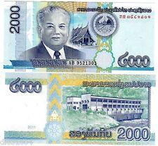 LAOS LAO Billet 2000 KIP 2011 PNL NOUVEAU NEW NEUF UNC