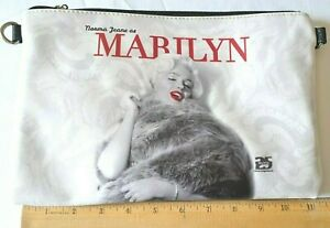 25 Hollywood Marilyn Monroe White Graphic Print Zipper Clutch Purse