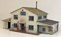 SHORTY'S SERVICE STATION HO HOn3 Model Railroad Unptd Laser Wood Kit RSM0105HO