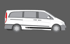 Mercedes-Benz Vito Side Stripe Decal Stickers Set. AMG Sports, Camper, Edition