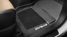 2013- 2016 Toyota Rav 4 All Weather Floor Mats, Black Rubber,OEM, PT908-42165-20