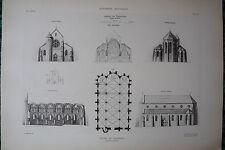 Eglise de Ferrières (Seine-et-Marne) planche début XX°
