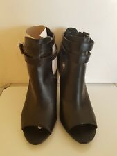 ladies leather peep toe ankle boots size 8