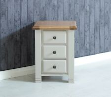 Birlea Woodstock 3 Drawer Wooden Bedside Cabinet Night Stand in Grey and Oak