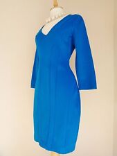 DAMSEL IN A DRESS PONTE JERSEY BODYCON ELECTRIC BLUE DRESS SZ UK 10