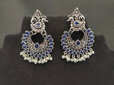 Earring/ Oxidized earring/ silver color earring Jumki/ Jewellery