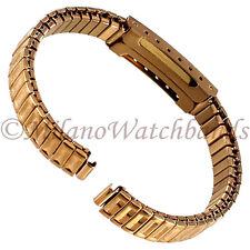 6mm Glam Rock Rose Gold Tone Twist-O-Flex Faux Buckle Ladies Watch Band GBEX01SY