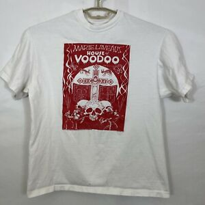 Vintage 1989 Marie Laveau's House of Voodoo T-Shirt Large White Made in USA