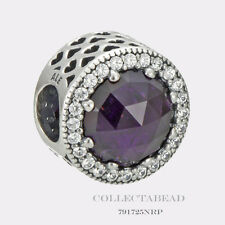 Authentic Pandora Silver Radiant Hearts Royal Purple Crystal CZ Bead 791725NRP