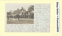 MA Rockport area 1919 RPPC  photo postcard LARGE HOME to Westfield MA Hubbard