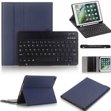 """Leather Case +Bluetooth Keyboard with Pen Holder For iPad 6th Gen 9.7"""" 2018/2017"""