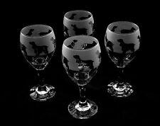 More details for cocker spaniel dog wine glasses set of four