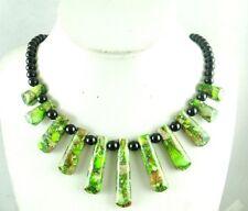 Nature Sea SEDIMENT JASPER &agate Handmade Gemstone Jewellery Necklace