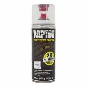 Upol Raptor Protective Coating Aerosol Can 400ML - WHITE