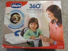 Chicco 360 rotating hook on high chair rubberized grip booster table in Miro