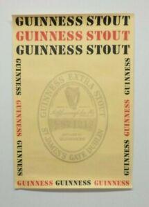 Original Vintage Guinness Stout Beer Advertising Poster 20x14