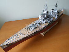 1:200 Scale HMS Prince of Wales V-class Battleship DIY Handcraft Paper Model Kit