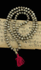MALA TIBETAIN PERLES DE COQUILLAGE OM MANI PADME HUM STYLE NEPAL 8.5 mm -1922
