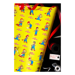 Chucky Childs Play 2 Good Guys Halloween Wrapping Paper Trick Or Treat Studios