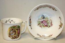 Beatrix Potter Jemima Puddle-Duck & Flopsy Bunnies Royal Albert Cup & Bowl