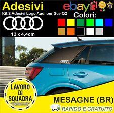 KIT 2 Adesivi Audi Q2 SUV Montante Posteriore Logo Decals Sticker Car Auto Italy