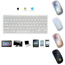 Wireless Bluetooth Mouse and Keyboard Slim For Android Windows iOS Tablet PC Mac