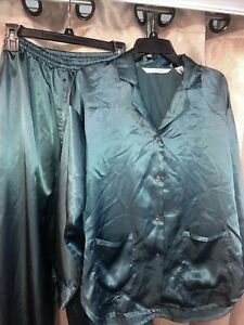 Vintage Victoria's Secret Satin Pajamas Set 2 Pcs Pjs Size Small